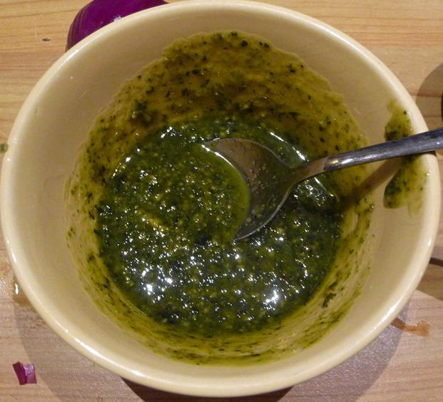pesto og olivenolje